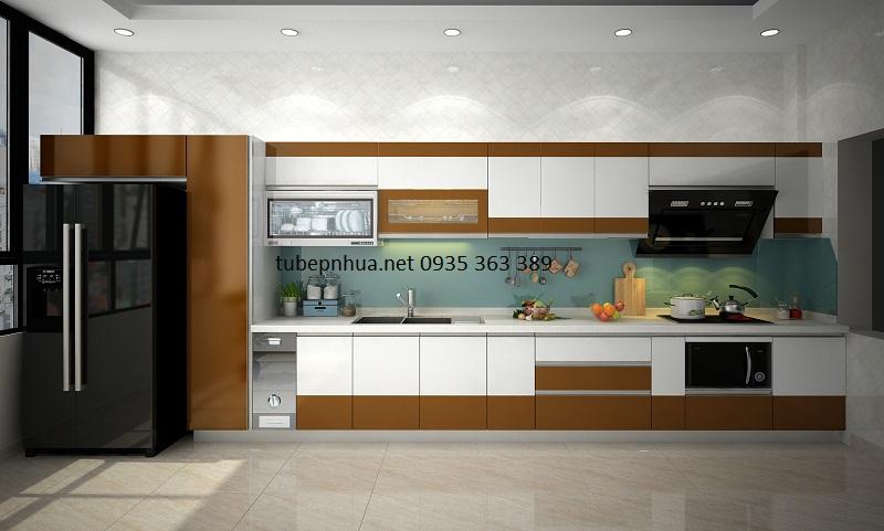 Tủ bếp nhựa nhà chú Hùng - Hà Nội
