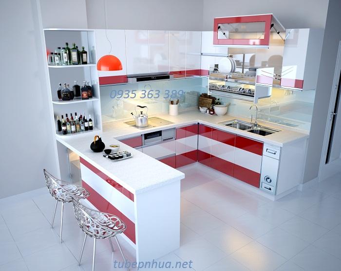 Tủ bếp nhựa cao cấp nhà anh Thắng - Phú Mỹ - Mỹ Đình 2