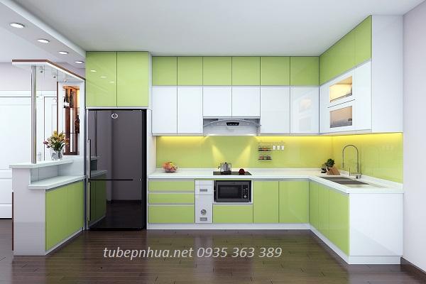 9 kiểu dáng tủ bếp nhựa chữ U hiện đại1
