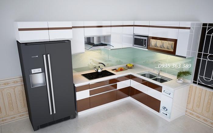Thiết kế tủ bếp nhựa nhà chị Tâm - Hồ Tùng Mậu, Hà Nội