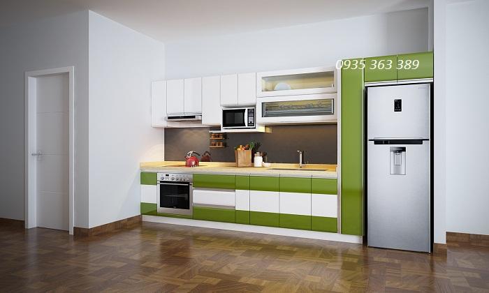 Tủ bếp nhựa cao cấp chữ I nhà cô Lý - Trung kính