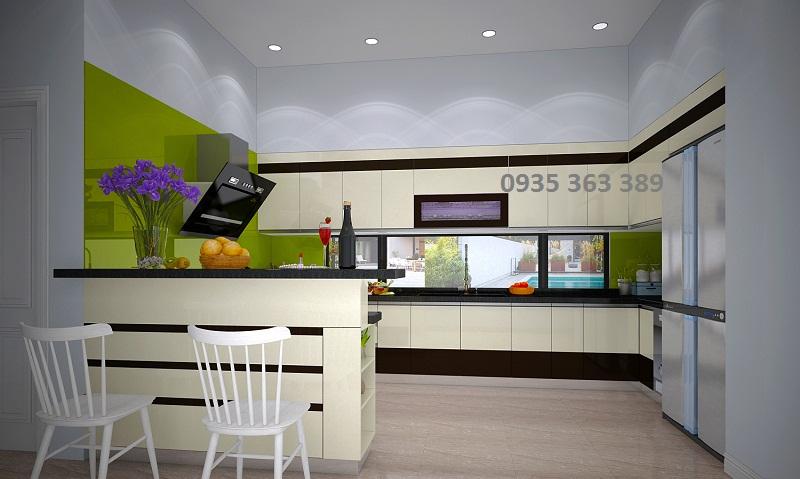 Tủ bếp nhựa nhà anh Tùng - Khoái Châu - Hưng Yên
